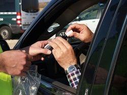 El test de alcoholemia con el vehículo estacionado